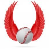 Flying baseball emblem