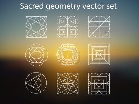 Sacred geometry on summer background