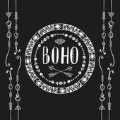Hand drawn sign in boho style Vector illustration