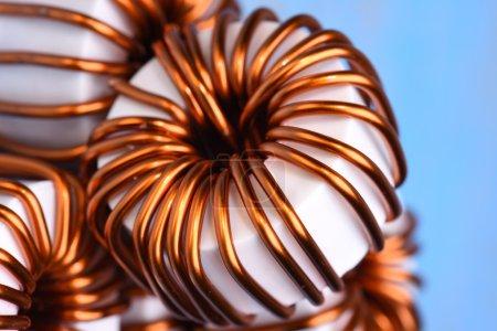 Macro of a copper coils