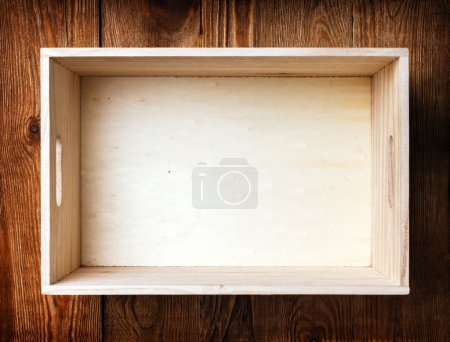 Single wooden box background...