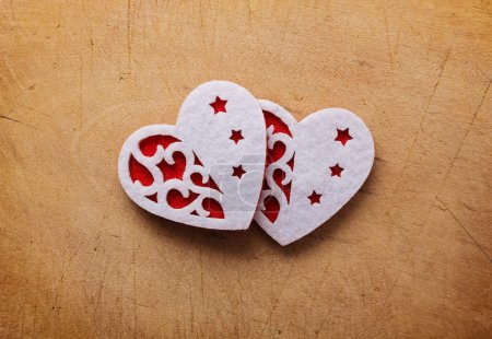 Photo pour Valentin fond avec coeurs. - image libre de droit