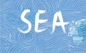 Sea banner with waves