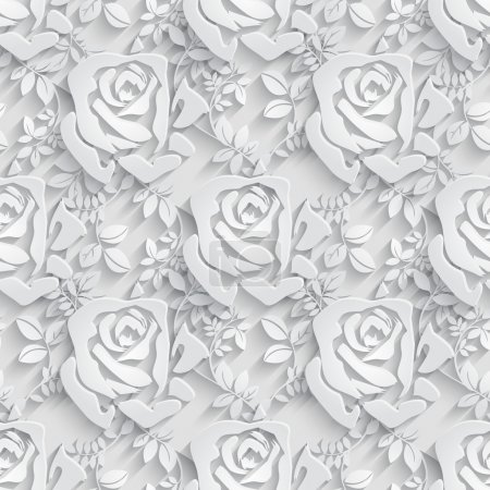 Illustration for Vector Floral  Seamless Pattern Background. - Royalty Free Image