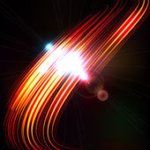 Abstract background with blurred light curved lines