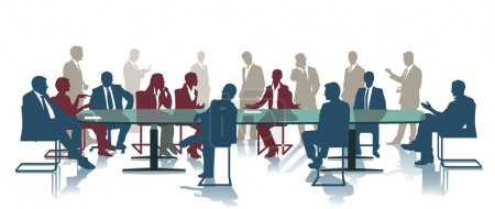 Illustration for Conference Meeting, office group - Royalty Free Image