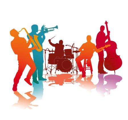 Illustration pour Groupe de jazz - image libre de droit