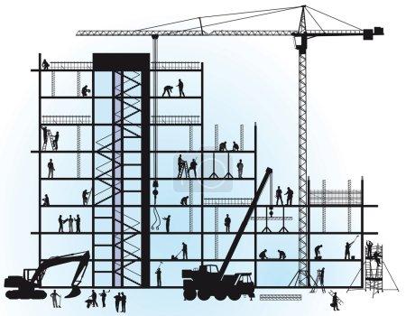 Illustration pour Nouvelle construction - image libre de droit