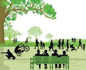 Menschen in das Parkgebiet