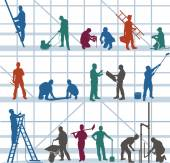 Construction workers and craftsmen