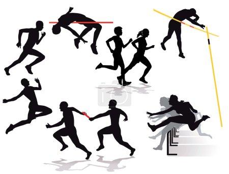 athletics, jump, running