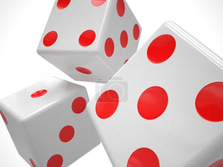 Three playing dices