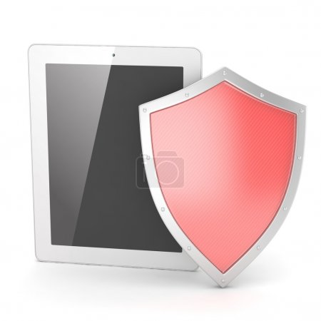security concept with tablet pc
