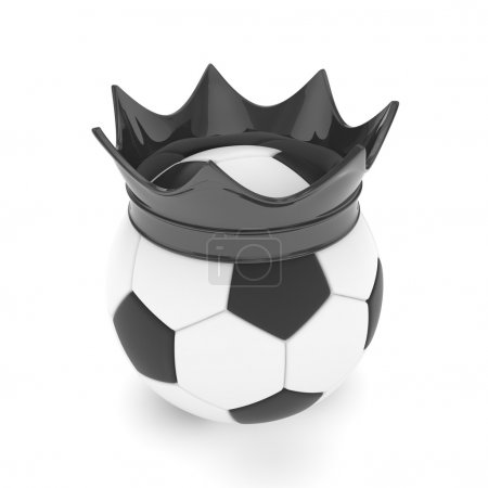 Soccer ball with crown