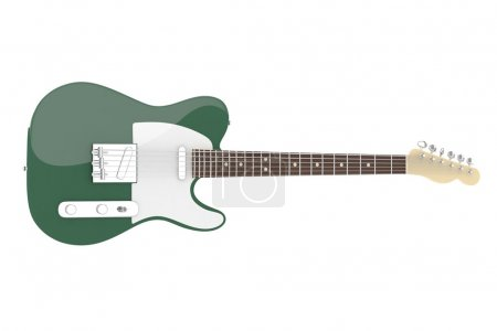 dark green electric guitar