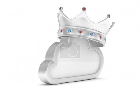 cloud icon with crown