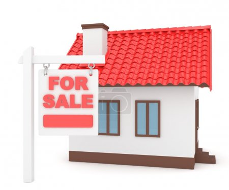 house with red roof for sale