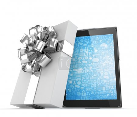 Tablet in white gift box