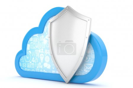 security concept with cloud