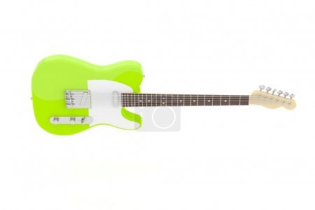 Isolated electric guitar on white