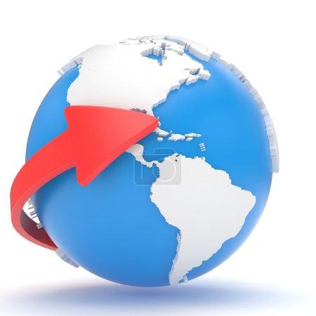 Arrow and Earth globe