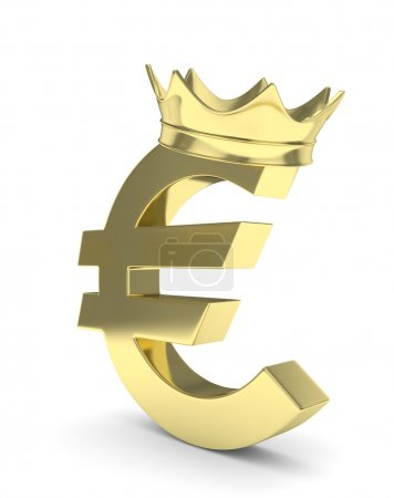 Euro sign with crown