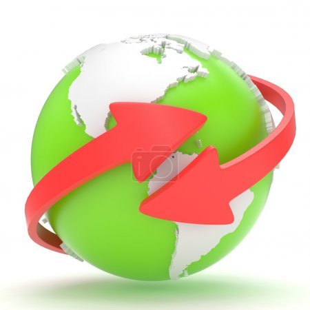Arrows and Earth globe