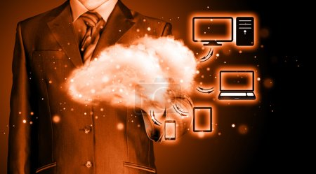Photo for Cloud computing, technology connectivity concept - Royalty Free Image