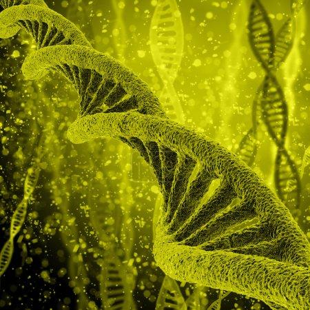 Photo pour Illustration numérique Structure ADN en arrière-plan couleur - image libre de droit