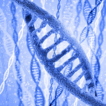 Photo for Colorful Digital illustration of DNA structure - Royalty Free Image