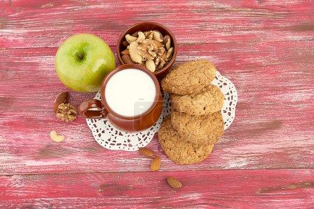 Healthy breakfast with cookies