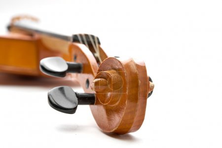 Photo for Classic brown violin on white background - Royalty Free Image