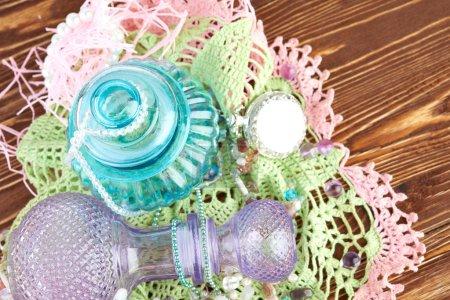 Foto de Fondo colorido con cosas orientales pasteles - Imagen libre de derechos