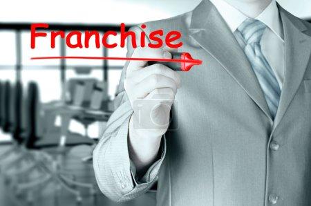Man writing franchise