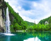 waterfall in mountain forest