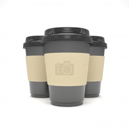 3d Coffee to go cups