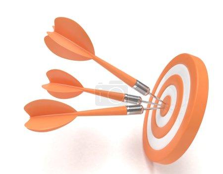 3d darts in target