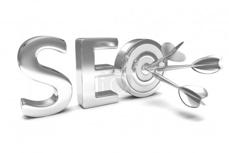Photo for 3d SEO concept on white background - Royalty Free Image