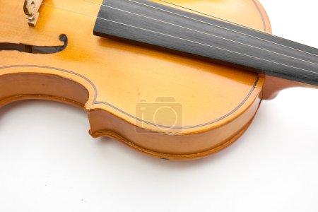 Photo pour Classique violon brun sur fond blanc - image libre de droit