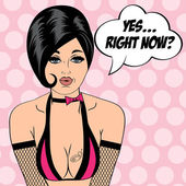 sexy horny woman in comic style xxx illustration