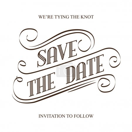 Illustration for Save the Date, illustrator format eps10 - Royalty Free Image