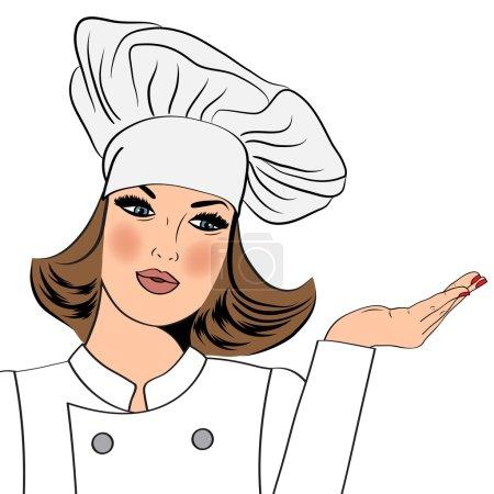 Illustration pour Femme chef sexy en uniforme, format vectoriel - image libre de droit