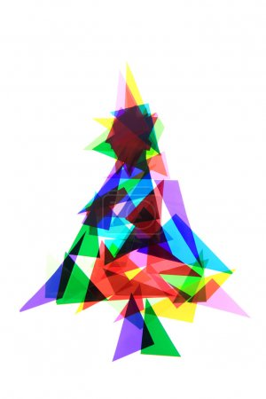 christmas tree from color plastic triangles