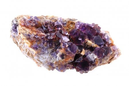 fluorite mineral isolated