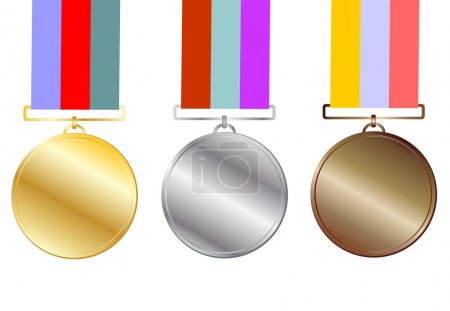 Illustration for Three medals vector eps 10 - Royalty Free Image