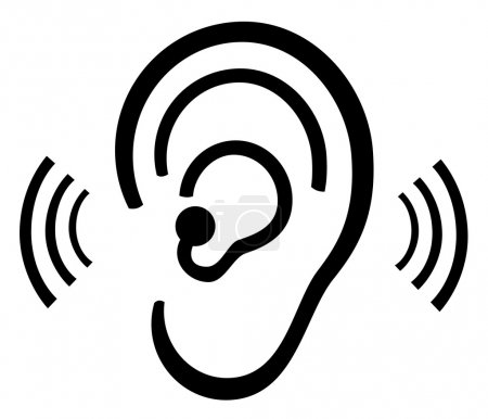 Illustration for Vector ear symbol - Royalty Free Image