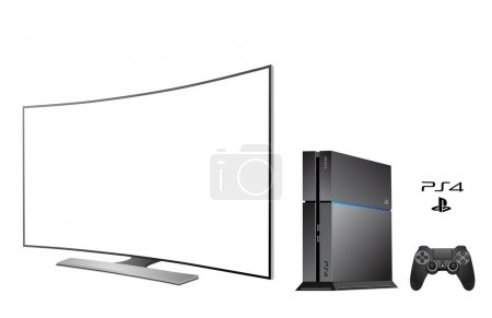 Sony PS 4 - console with TV