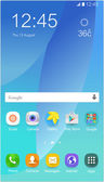 Modern mobile screen with icon vector eps 10