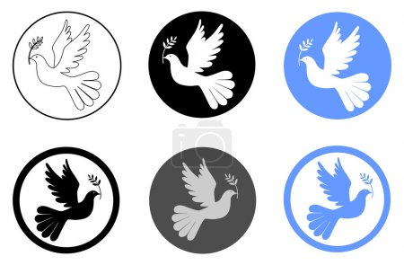 Illustration for Peace dove with olive branch vector eps 10 - Royalty Free Image