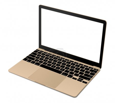 Top view of modern gold laptop